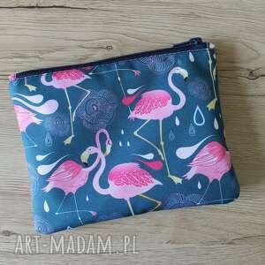 kosmetyczki kosmetyczka - flamingi, flaming, wakacje, prezent, święta