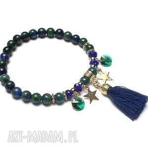 Lapis /gypsy/ vol.2 - bransoletka, lapis, lazuli, jadeity, chwost, kryształki
