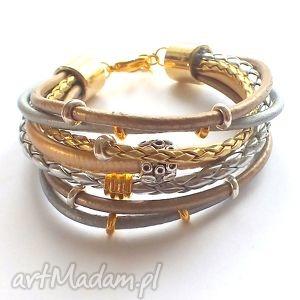 bransoleta rich gold silver - rzemienie
