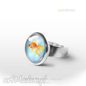 Pierścionek - złota rybka goldfish liliarts pierścionek