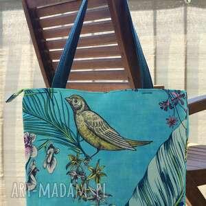 torba / worek na ramię - koliber, torba, hobo, ptaszek, prezent, motyw