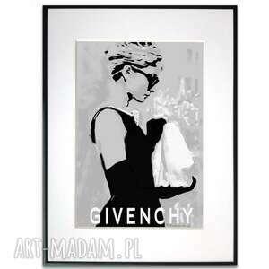 grafika w ramie suknia givenchy 30x40, moda, nowoczesne, artystyczne