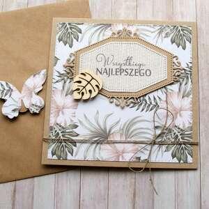 hand-made kartki wszystkiego najlepszego: pastel jungle