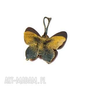 Prezent Wisiorek z żółtym motylem c320, wisiorek-z-motylem, żółty-motyl