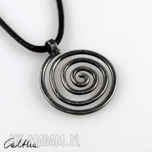 wisiorki spirala - srebrny wisiorek 2110-02, wisiorek, srebrna biżuteria