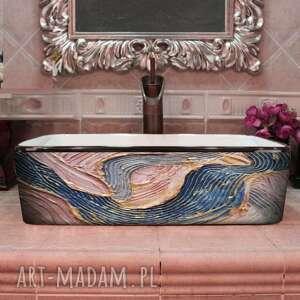 Pastel waves - artystyczna umywalka nablatowa ze strukturą