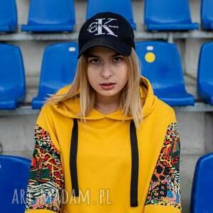 bluzy bluza dresowa kenia, dresowa, żółta, kolorowa