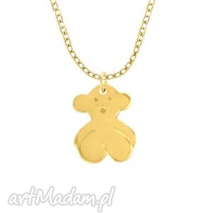 celebrate - teddy bear - necklace g lavoga - łańcuszek, złoty