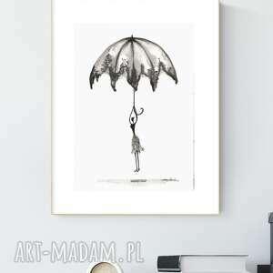 grafika 21x30 cm wykonana ręcznie, abstrakcja, obraz do salonu, 2644990