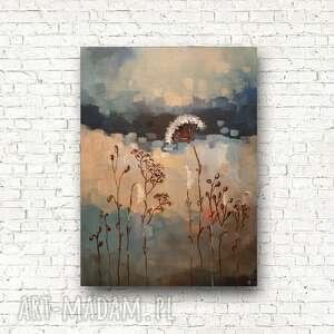 paulina lebida łąka-obraz akrylowy formatu 30/40 cm, łąka, obraz, akryl