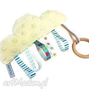 chmurka metkowiec sensoryczny, sensorek, gryzak, metkowiec, zabawka, niemowle
