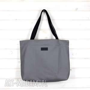 Prezent Amelia torebka shopperka pojemna skórzana szara, torebka, shopperka,