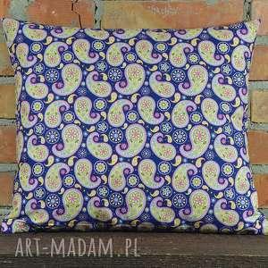 ręczne wykonanie poduszki poduszka dekoracyjna wzór paisley 40x45cm