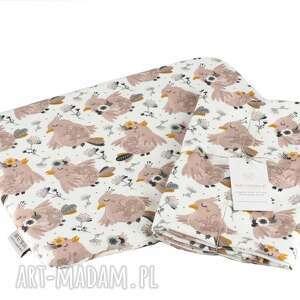 otulacz bambusowy premium bajkowe ptaki zestaw z poduszką, dla niemowląt