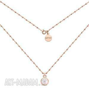 naszyjnik z różowego złota z perłą swarovski® crystal sotho