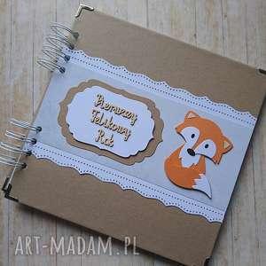 handmade scrapbooking albumy album - a ja jestem rudy lis