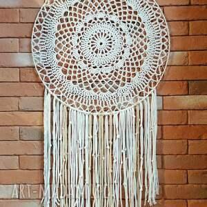 hand-made dekoracje duży łapacz snów średnica 70