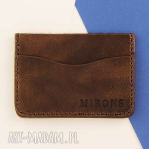 portfel na karty brązowy, portfel, skórzany, etui, portfelik