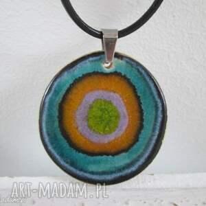 naszyjniki zakręcony naszyjnik ceramiczny 2 w 1, dwustronny, wisior, kolorowy