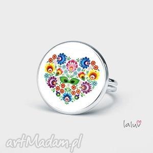 prezenty na święta, pierścionek love slavic, ludowe, kolorowe, kwiaty, folk, prezent