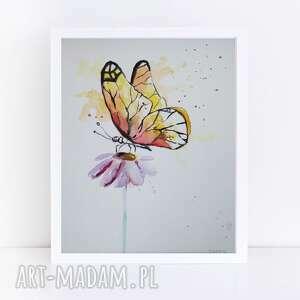 motyl-akwarela, motyl, akwarela, kwiatek, pod choinkę prezent