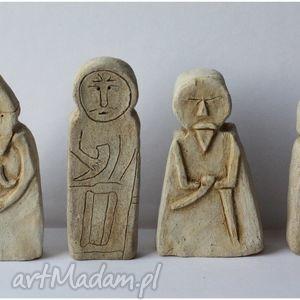 Zestaw 6 Bab Pruskich, figurka, ceramika, posążek