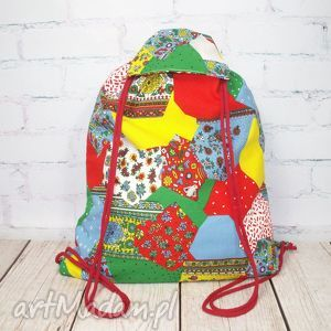 Worek jak patchwork kalisz made worek, plecak, eko, prezent