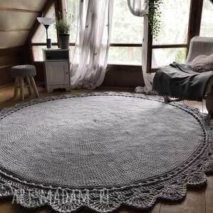 dywan ręcznie pleciony koronka 200cm, dużydywan, dywanpleciony, dywanokrągły