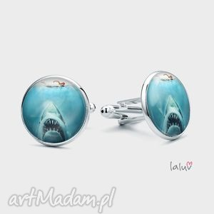 spinki do mankietów szczęki, jaws film oscary, rekin ocean, prezent