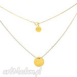 ręczne wykonanie naszyjniki złoty naszyjnik symbol koła karma pełne koło łańcuszek żmijka fashion