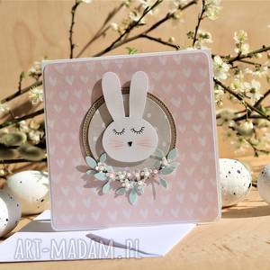 Kartka na Wielkanoc lub urodzinki dziewczynki, króliczek, bunny, wielkanoc,