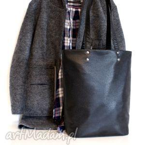 owal vege czerń - vege, torba, torebka, eko, klasyczna