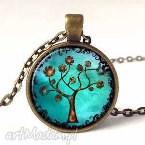 drzewo nadziei - medalion z łańcuszkiem - złote, prezent