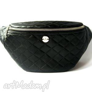 Black Caro nerka /saszetka, nerka, saszetka, pikowana, handmade, autorska, pikówka