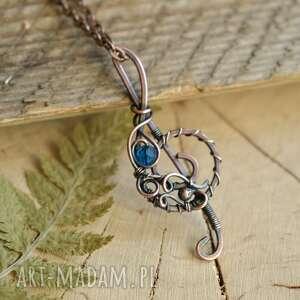 music blue - naszyjnik z kluczem wiolinowym, wisiorem, biżuteria