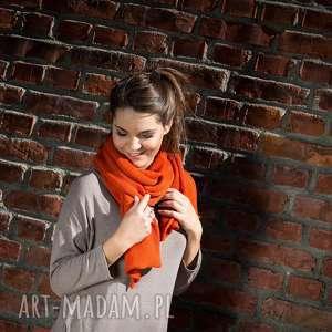 ręcznie wykonane szaliki ciepły, pomarańczowy szal