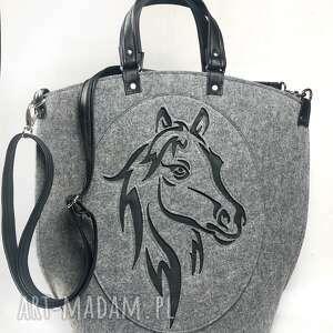 torba filcowa, torebka, koń, doręki