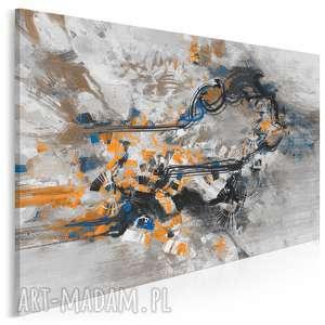 obraz na płótnie - abstrakcja nowoczesny pomarańczowy 120x80 cm 22203
