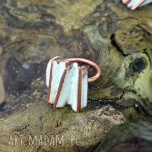 Pierścionek emaliowany langner design emalia, art, pierścionek