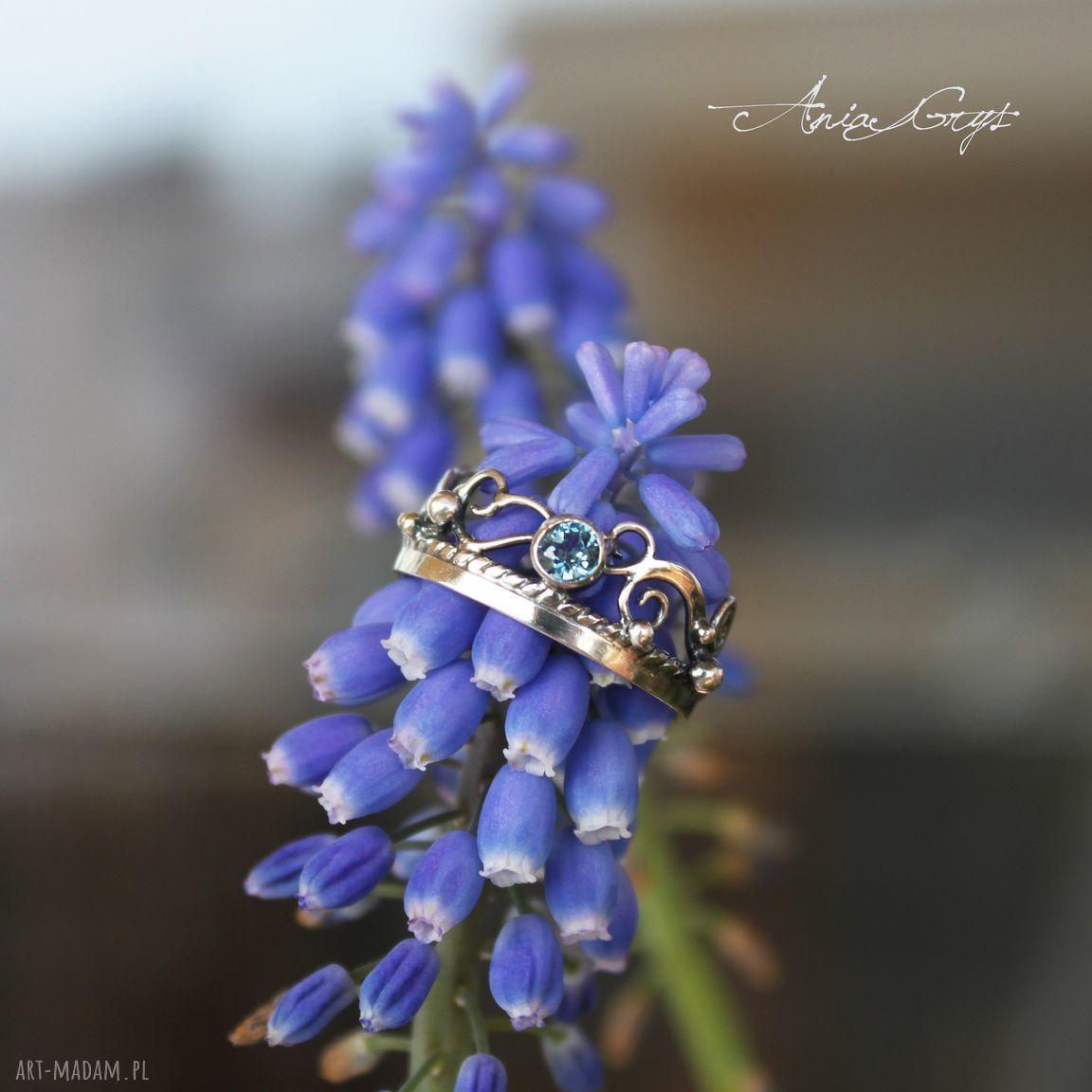 niebieskie pierścionki topaz pierścionek szafirowy