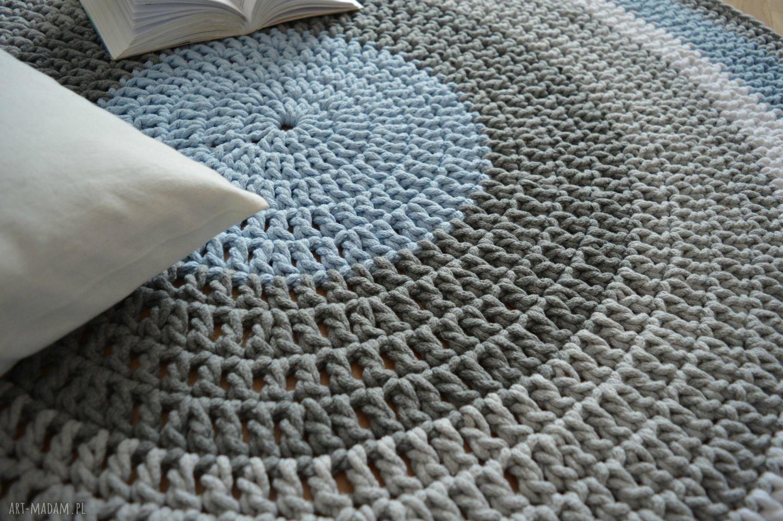 ręcznie robione dywany dywan robiony okrągły ze