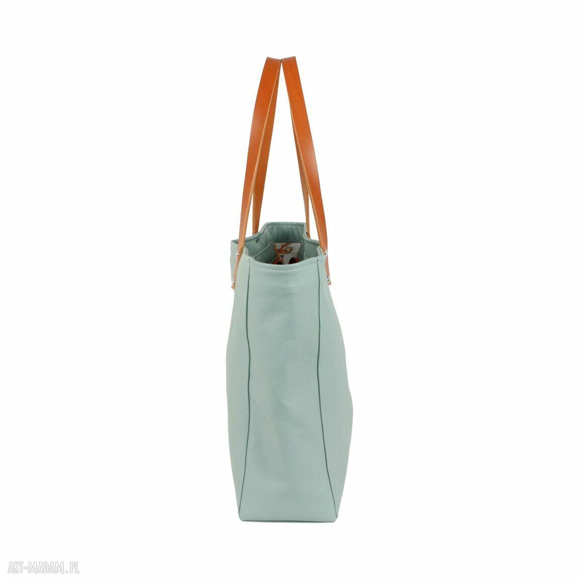 handmade na ramię usztywniana torba cuboid maxi iv