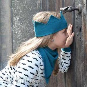 Opaska korona turkusowa , opaska, korona, jesień, księżniczka, przedszkolak, wiosna