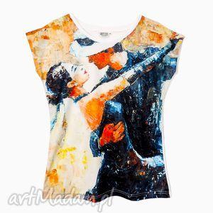 artystyczna bluzka damska - tango, tshirt, damski, modna, bluzka, elegancka