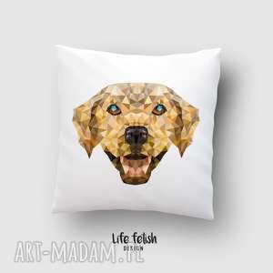 ręcznie wykonane poduszki poszewka z labradorem
