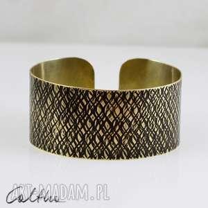 bransoletki kora - mosiężna bransoletka, bransoleta, szeroka, metalowa