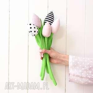 Tulipany, bukiet, bawełniane, tulipan, kwiaty, kwiatki