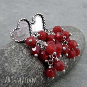 Serce z karminowym ogonem, sztyfty, serce, serduszko, romantyczne, walentynki, gronka