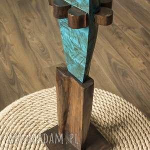 Rzeźba Interpretacja Człowieka II, rzeźba, człowiek, decoupage, drewno