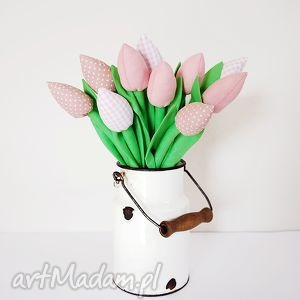 Bukiet bawełnianych tulipanów, tulipany, bawełniane, szyte, kwiaty,